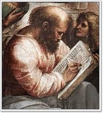 라파엘로의 그림 '아테네 학당' 속의 피타고라스. 무슨 문제를 열심히 풀거나 증명하고 있는 것처럼 보인다.