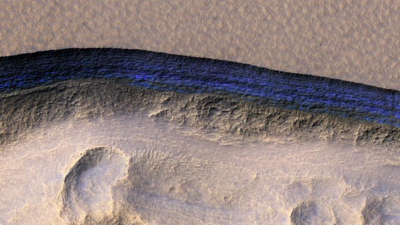 화성 얼음 절벽